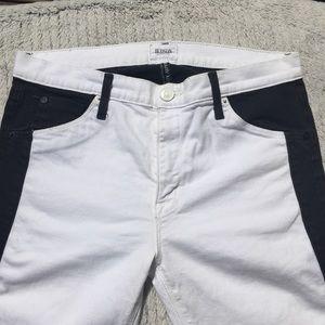 Hudson color block skinny jeans size 30